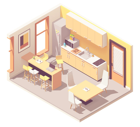 Vector Isometric Corporate Office Break