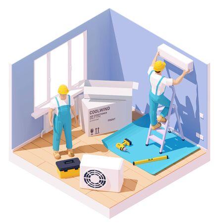 Ilustración de Air conditioner installation - Imagen libre de derechos