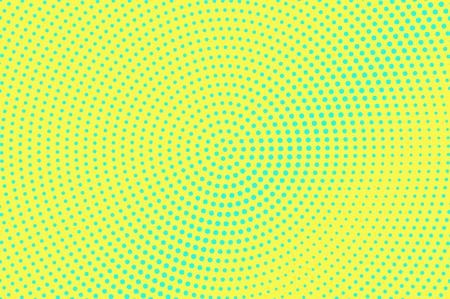 Illustration pour Yellow green halftone vector background. Subtle halftone texture. Diagonal dotwork gradient. Vibrant dotted halftone surface. Retro halftone overlay. Vintage cartoon effect. Perforated texture - image libre de droit