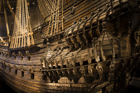 Photo pour Naval ship Vasa that  capsized and sank in Stockholm in 1628 - image libre de droit