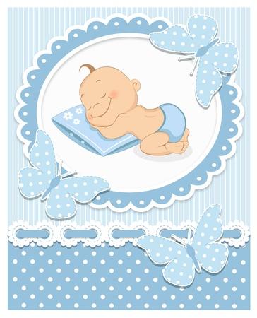 Illustration for Sleeping baby boy - Royalty Free Image