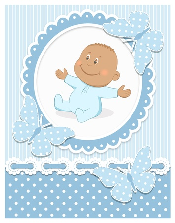 Illustration for Smiling African baby boy - Royalty Free Image