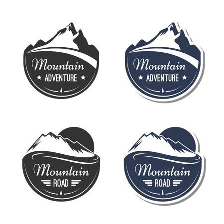 Illustration pour Mountain design elements - image libre de droit