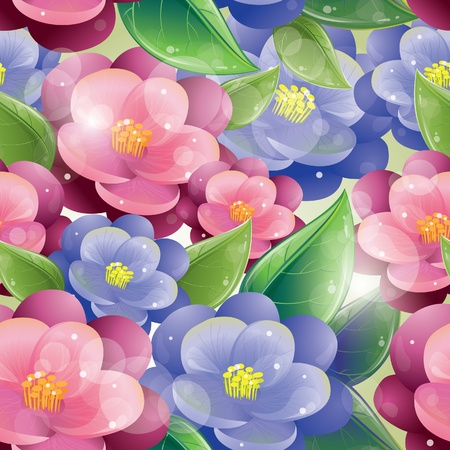 Seamless pattern - Violet flowers, vector illustration, eps-10