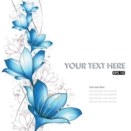 Illustration for Blue lilies design, vector illustration, eps-10 - Royalty Free Image