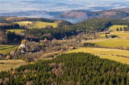 Photo pour the overlook from szczeliniec mountain, in Poland - image libre de droit