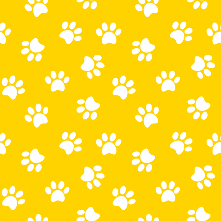 Foto de Animal footprint seamless pattern illustration - Imagen libre de derechos