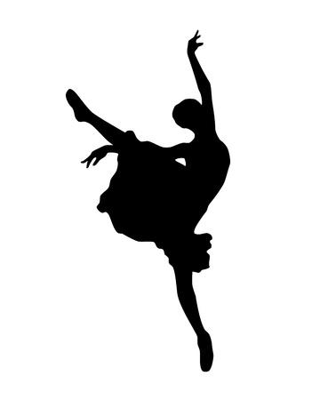 Illustration pour ballerina silhouette Isolated on white background - image libre de droit