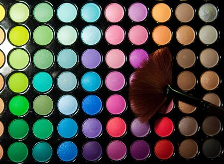 Makeup set. Professional multicolor eyeshadow paletteの写真素材