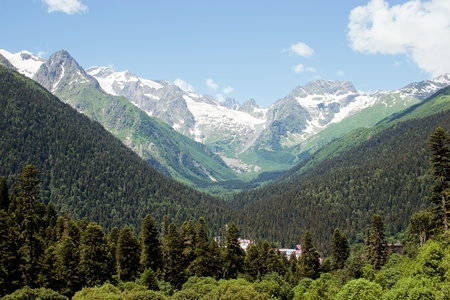 Caucasus Mountains, Dombai