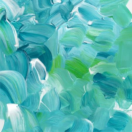 Ilustración de Turquoise blue oil paint texture. - Imagen libre de derechos