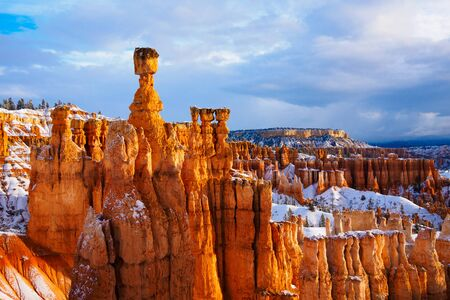 thor hammer over snow, Bryce Canyon National Park, UT USA