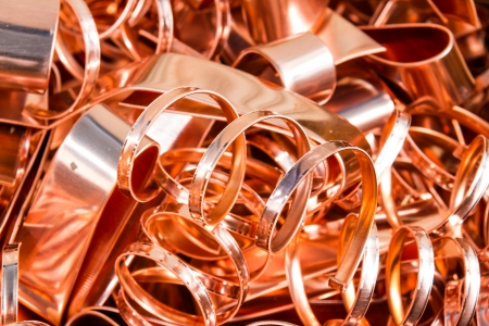 Scrapheap of copper foil  sheet  for recycling