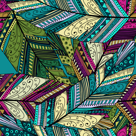 Illustration pour Seamless pattern with abstract feather - image libre de droit