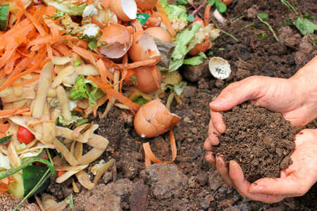 Compost with composted earth