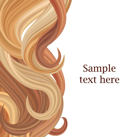 Hair background  Hair style poster template  Vector illustration