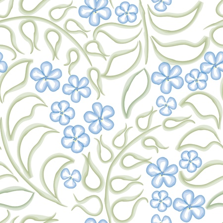 Flower background  Seamless pattern with flowers, floral illustration  Water color white backdrop