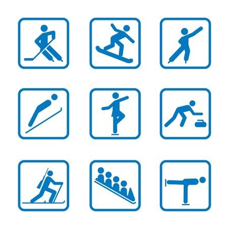 Set of winter sport icons