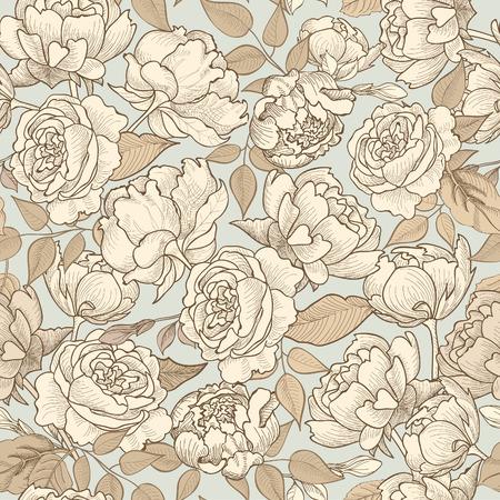 Illustration pour Floral seamless background. Decorative flower pattern. Floral seamless texture with flowers. - image libre de droit