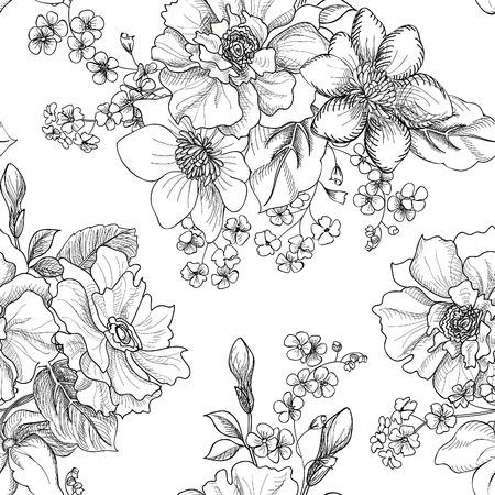 Illustration pour Floral seamless pattern - image libre de droit
