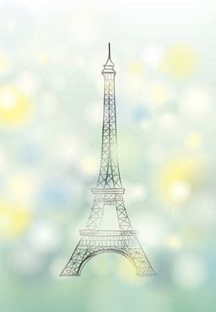 Paris spring background with Eiffel tower