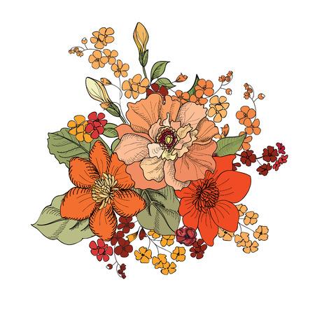 Illustration pour Flower bouquet - image libre de droit