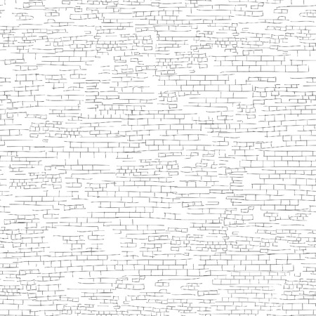 Illustration for Ancient brick wall background. Shabby brick wall sketch pattern Architectural texture - Royalty Free Image