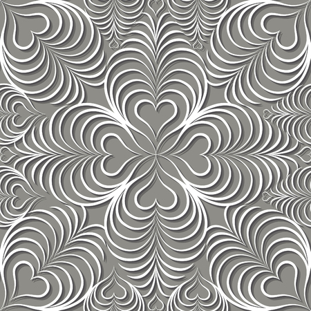 Photo for Abstract seamless pattern Floral arabic geometric heart shape line ornament. Stylish abstract ornamental lace background - Royalty Free Image