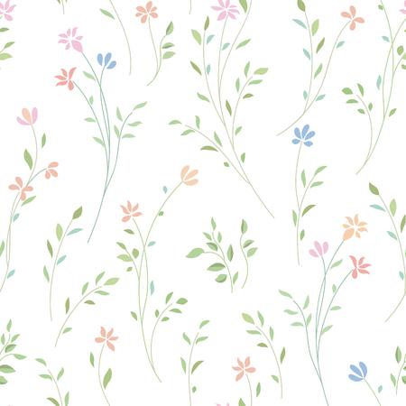 Illustration pour Floral seamless pattern. Flower background. Flourish ornamental garden - image libre de droit