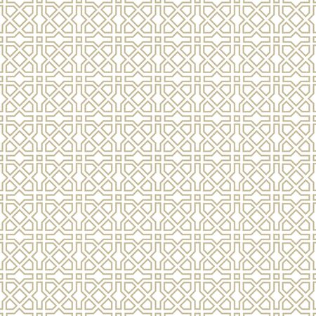 Illustration pour Arabic ornament with geometric shapes. Abstract motives of the paintings of ancient Indian fabric patterns. Abstract seamless pattern. - image libre de droit