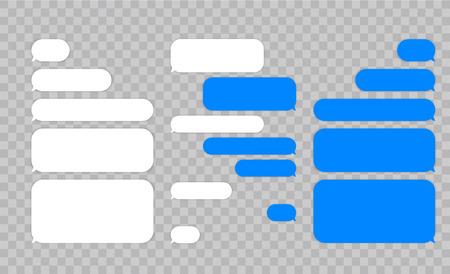 Illustration pour Message chat bubbles vector icons for messenger. Template for message chat. Vector illustration - image libre de droit
