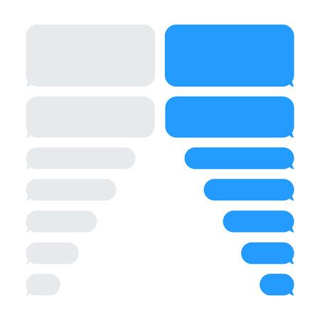 Ilustración de Message bubbles chat vector. Vector template of message bubbles chat boxes icons. - Imagen libre de derechos