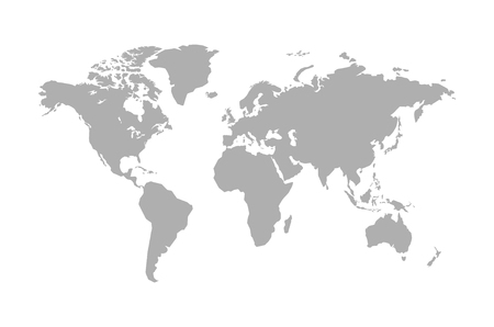 Illustration pour World map isolated on white background. Vector illustration - image libre de droit