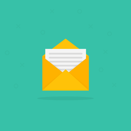 New Message icon on a white background. Vector illustration