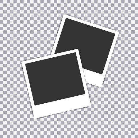 Illustration pour Retro realistic vector photo frame placed on transparent background. - image libre de droit