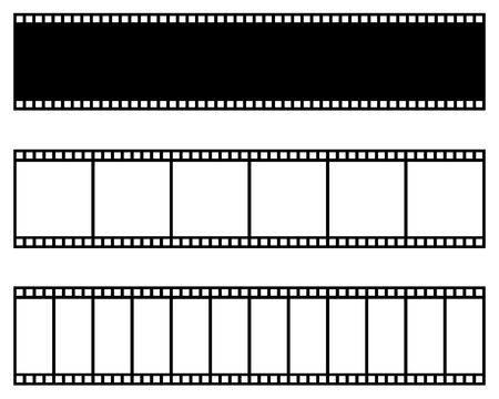 Illustration for Film strip collection. Vector template. Cinema, movie photo filmstrip frame - Royalty Free Image