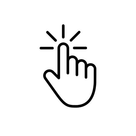 Illustration pour Computer mouse click cursor gray arrow icons set and loading icons. Cursor icon. Vector illustration - image libre de droit