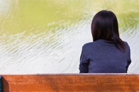 girl alone near river