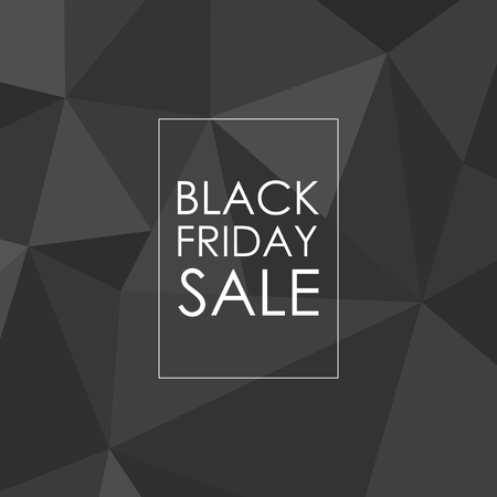 a7bf8546a91 Black Friday sale polygonal design. Black low poly background with  inscription for promotion ready for