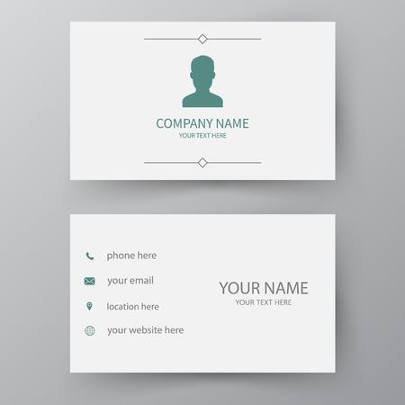 Illustration pour Modern presentation card. Vector business card. Visiting card for business and personal use.  Vector illustration design. - image libre de droit