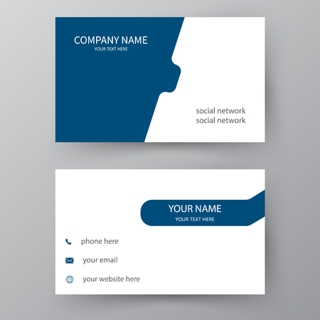 Illustration for Modern presentation card. Vector business card. Visiting card for business and personal use.  Vector illustration design. - Royalty Free Image