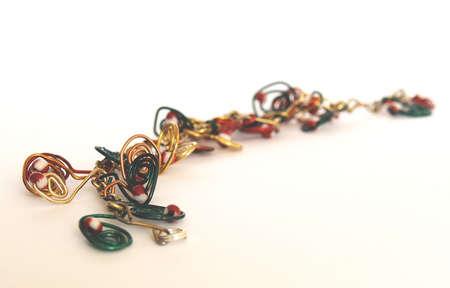 Self-made variegated bracelet of metal