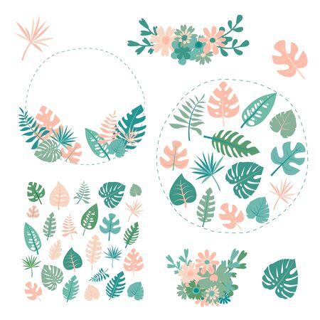 Foto per tropical plants vector - Immagine Royalty Free