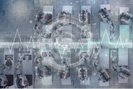 Foto für Robotics production lines. Industrial automated production line. - Lizenzfreies Bild