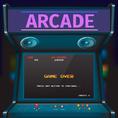 Illustration pour Retro arcade game machine. Vector illustration. - image libre de droit