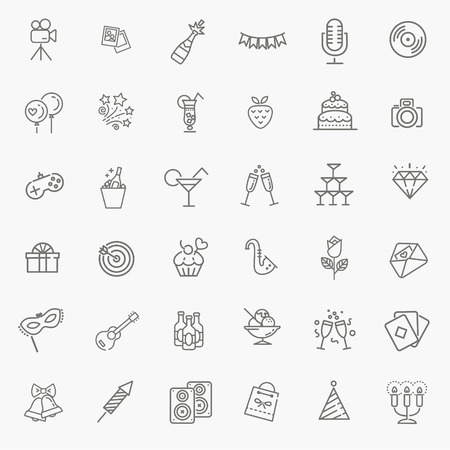 Illustration for vector web icon set - Party, Birthday, Holidays - Royalty Free Image
