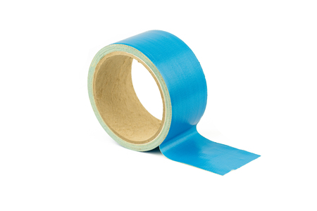 adhesive tape blue isolated on white