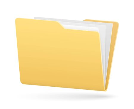 Illustration pour vector simple full folder of documents with light shadow - image libre de droit