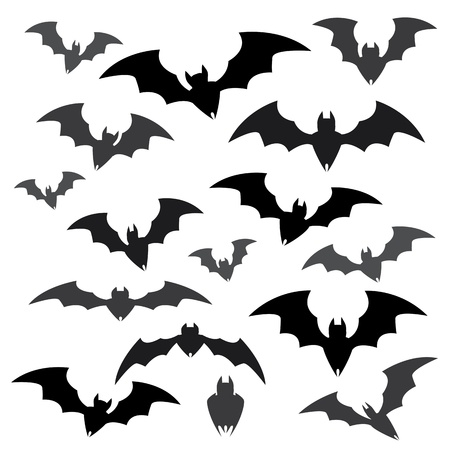 Bats and Halloween Icon Sets