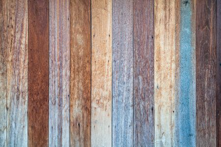 Foto de Stack of  old wooden texture. Wood nature pattern or abstract background. - Imagen libre de derechos